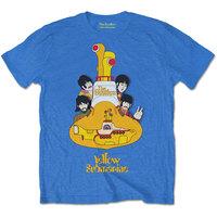 The Beatles - Yellow Submarine Sub Sub Men's T-Shirt - Blue (Small) - Cover
