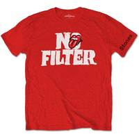 The Rolling Stones - No Filter Header Logo Men's T-Shirt - Red (X-Large) - Cover