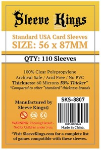 Sleeve Kings - Card Sleeves - Standard USA (110 Sleeves) - Cover