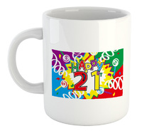 Colourful 21St Birthday - White Ceramic Mug - Cover