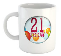 21 Today - White Ceramic Mug - Cover