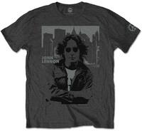 John Lennon - Skyline Men's T-Shirt - Charcoal (Large) - Cover