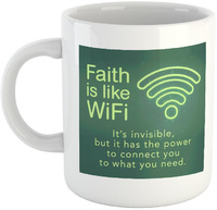 Faith Is Like WiFi - White Ceramic Mug - Cover