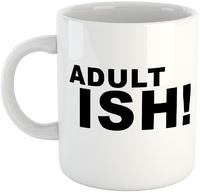 Adultish Mug - White Ceramic Mug - Cover