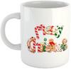 Merry Christmas Candy Mug - White Ceramic Mug
