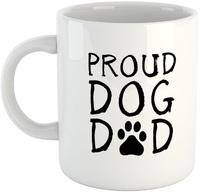 Proud Dog Dad - White Ceramic Mug - Cover