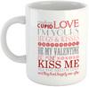 Valentine's Day Message - White Ceramic Mug