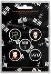 Marilyn Manson - Cross Logo Button Badge (Pack of 5)