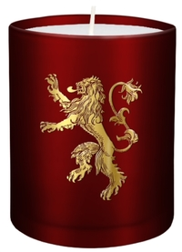 Game of Thrones - House Lannister - Large Glass Candle (8cm x 9cm) - Cover