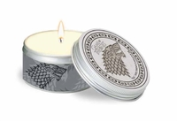Game of Thrones - House Stark - Frosted Pine Scented Tin Candle Large, Mint (8cm x 5cm) - Cover