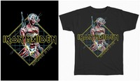 Iron Maiden - Somewhere In Time Diamond Men's Black T-Shirt (Large) - Cover