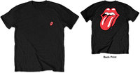 The Rolling Stones - Classic Tongue Men's Black T-Shirt (Large) - Cover