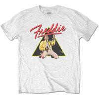Freddie Mercury Triangle Men's Black T-Shirt (X-Large) - Cover