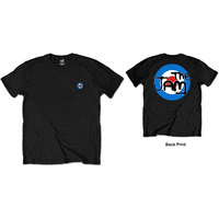 The Jam Spray Target Logo Back Print Men's Black T-Shirt (XX-Large) - Cover