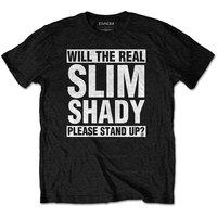 Eminem - The Real Slim Shady Men's T-Shirt - Black (X-Large) - Cover