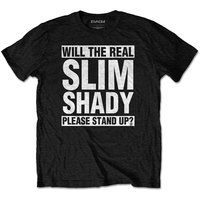 Eminem - The Real Slim Shady Men's T-Shirt - Black (XXX-Large) - Cover