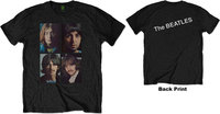 The Beatles - White Album Faces Men's T-Shirt - Black (Medium) - Cover