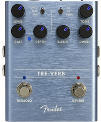 Fender Tre-Verb Digital Reverb and Tremolo Electric Guitar Effects Pedal - Cover