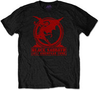 Black Sabbath - Europe '75 Men's T-Shirt - Black (Large) - Cover