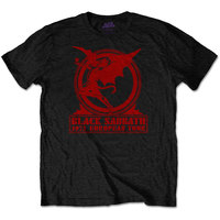 Black Sabbath - Europe '75 Men's T-Shirt - Black (XX-Large) - Cover