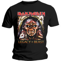 Iron Maiden - Legacy Aces Men's T-Shirt - Black (Small) - Cover