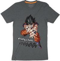 Dragon Ball Z - Kamehameha - Mens Tee - Charcoal T-Shirt (Small) - Cover