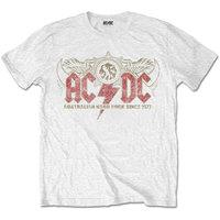 AC/DC - Oz Rock Men's T-Shirt - White (Large) - Cover