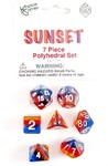 Koplow Games - Set of 7 Polyhedral Dice - Sunset