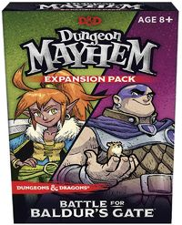 Dungeons & Dragons - Dungeon Mayhem - Battle for Baldur's Gate Expansion (Card Game) - Cover