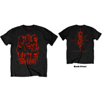 Slipknot - WANYK Red Patch Men's Black T-Shirt (Medium) - Cover