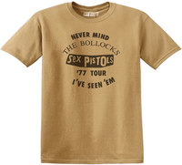 Sex Pistols - Seen 'Em Old Men's T-Shirt - Gold (X-Large) - Cover