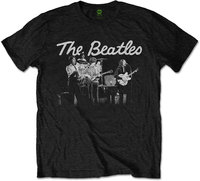 The Beatles - 1968 Live Photo Men's T-Shirt - Black (X-Large) - Cover