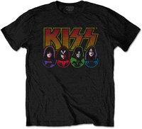 Kiss - Logo, Faces & Icons Men's T-Shirt - Black (Large) - Cover