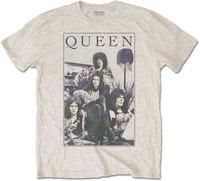 Queen - Vintage Frame Men's T-Shirt - Sand (Medium) - Cover