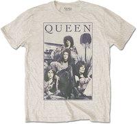 Queen - Vintage Frame Men's T-Shirt - Sand (X-Large) - Cover