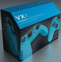Gioteck - VX4 Premium Wired Controller - Blue (PS4)