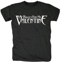 Bullet For My Valentine - Logo Men's T-Shirt - Black (Large) - Cover