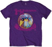 Jimi Hendrix - Are You Experienced Men's T-Shirt - Purple (Large) - Cover