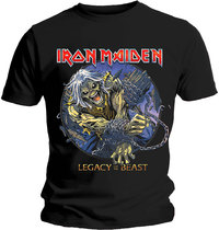 Iron Maiden - Eddie Chained Legacy Men's T-Shirt - Black (X-Large) - Cover
