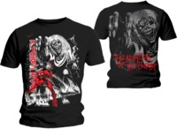 Iron Maiden - The Number of the Beast Jumbo FP Men's T-Shirt - Black (Small) - Cover