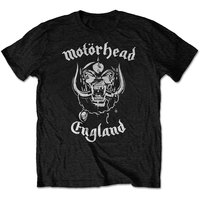 Motorhead - England FP Men's T-Shirt - Black (Large) - Cover