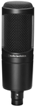 Audio Technica AT2020 Large Diaphragm Cardioid Condenser Microphone (Black)
