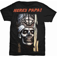 Ghost Here's Papa Men's Black T-Shirt (X-Large) - Cover