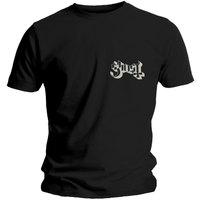 Ghost Pocket Logo Men's Black T-Shirt (Large) - Cover