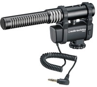 Audio Technica AT8024 Stereo and Mono Camera Microphone with Mount (Black) - Cover