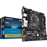 Gigabyte - H370M D3H GSM LGA 1151 (300 Series) Intel H370 SATA 6Gb/s Micro ATX Intel Motherboard