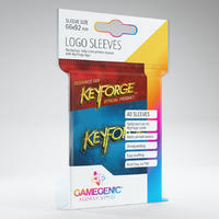 Gamegenic - Keyforge: Logo Sleeves - Blue (40 Sleeves)