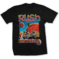 Rush US Tour 1978 Men's Black T-Shirt (X-Large) - Cover