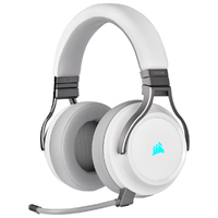 Corsair Virtuoso RGB Wireless Dolby 7.1 Gaming Headset - White (PC, PS4, Xbox One, Switch)