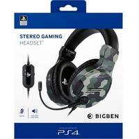 Bigben Interactive - Stereo Gaming Headset - Camo Green (PS4)